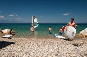 sup windsurf rental hotel peloponnese