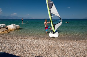 windsurf lessons beach hotel greece
